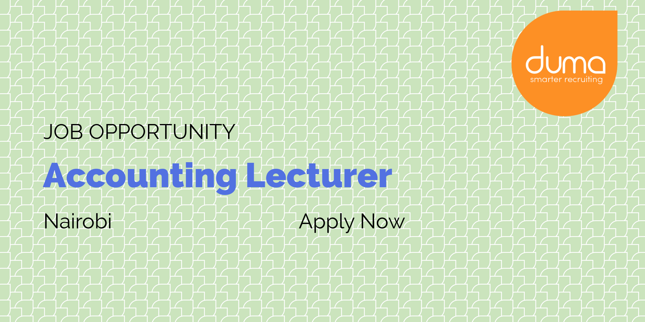 Job Vacancy - Accounting Lecturer